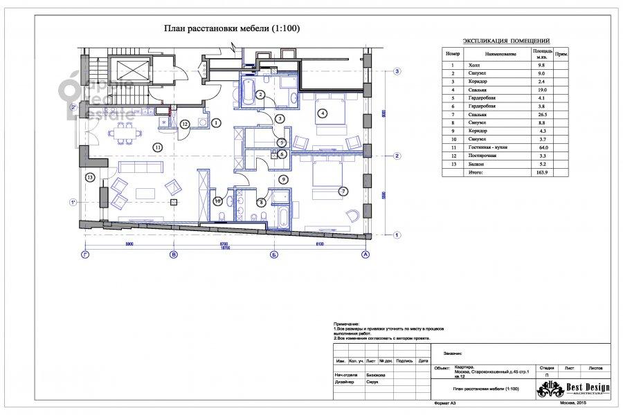 4-комнатная квартира по адресу Староконюшенный переулок 45