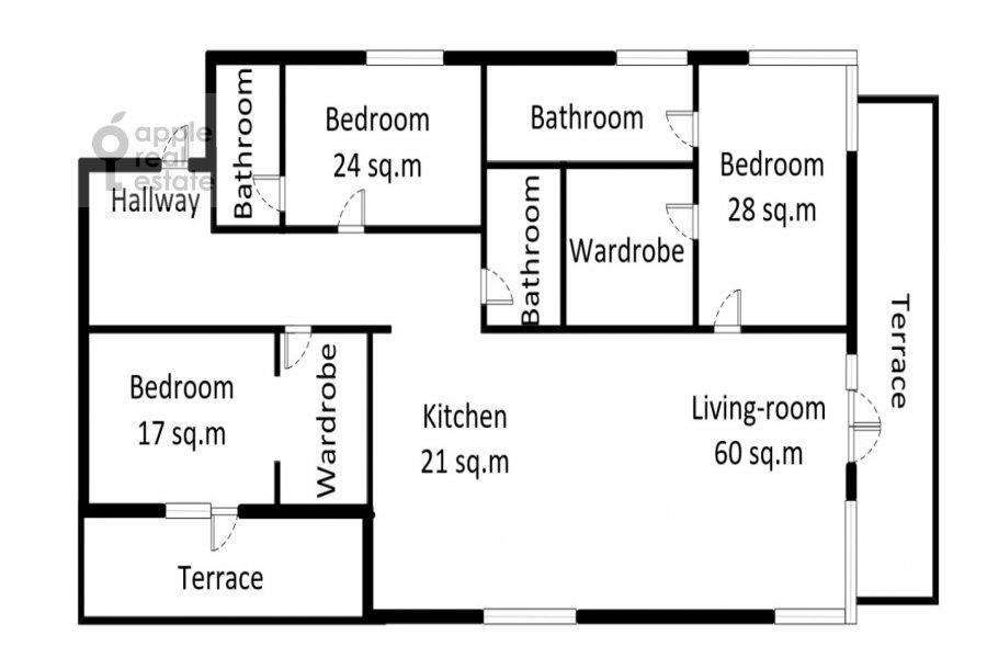 5-комнатная квартира по адресу 2-ая Звенигородская 11