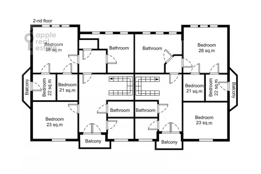 Поэтажный план 6-комнатной квартиры по адресу Татарская Большая ул. 30с2
