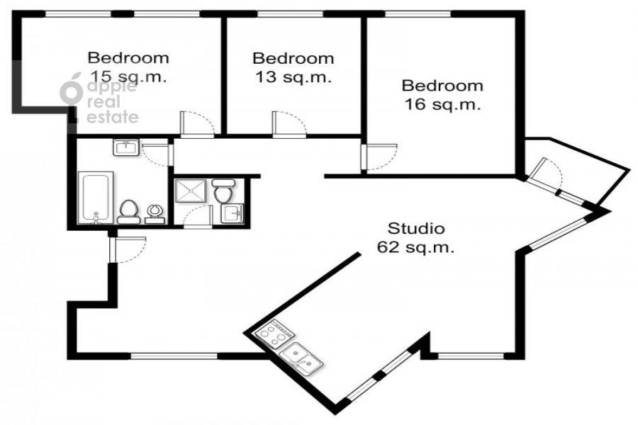 4-комнатная квартира по адресу Вишняковский пер. 10с2