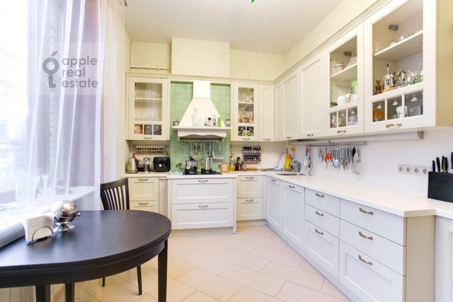 Kitchen of the 3-room apartment at Spiridonovka 19
