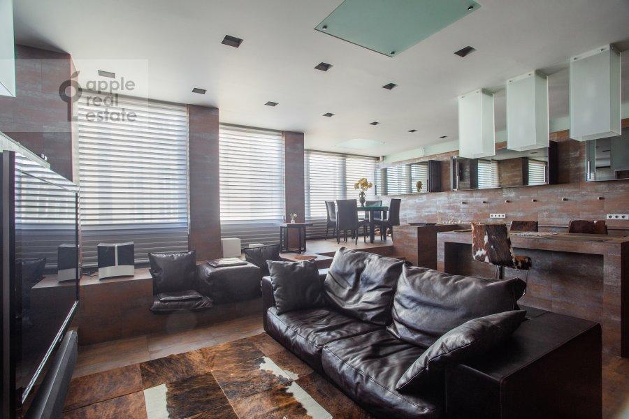 Гостиная в 3-комнатной квартире по адресу Нахимовский пр-т. 56