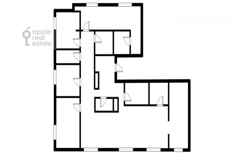 Floor plan of the 6-room apartment at Kutuzovskiy pr-t. 12