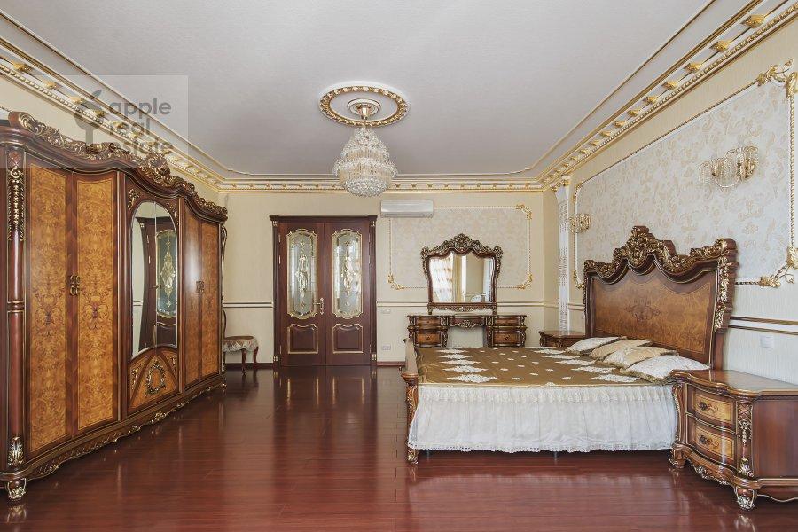 Спальня в 4-комнатной квартире по адресу Мичуринский проспект 6к2
