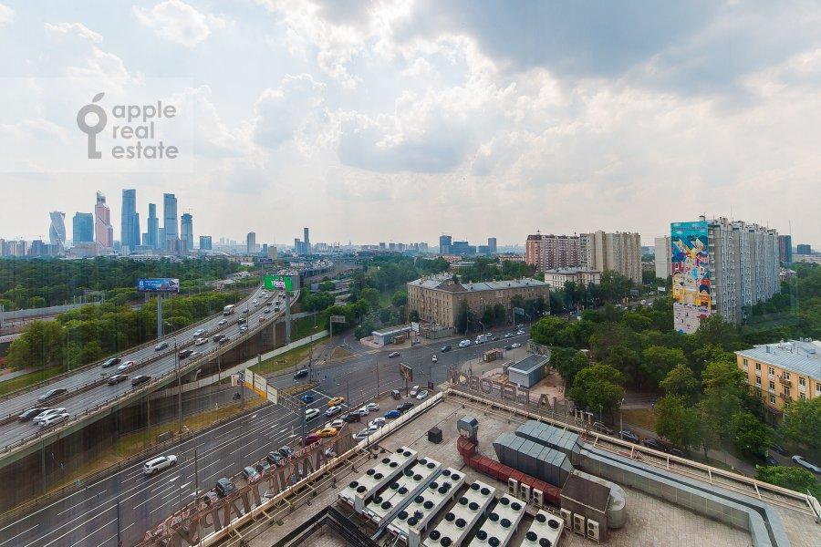 View from the window of the 3-room apartment at Khoroshevskoe shosse 16k2