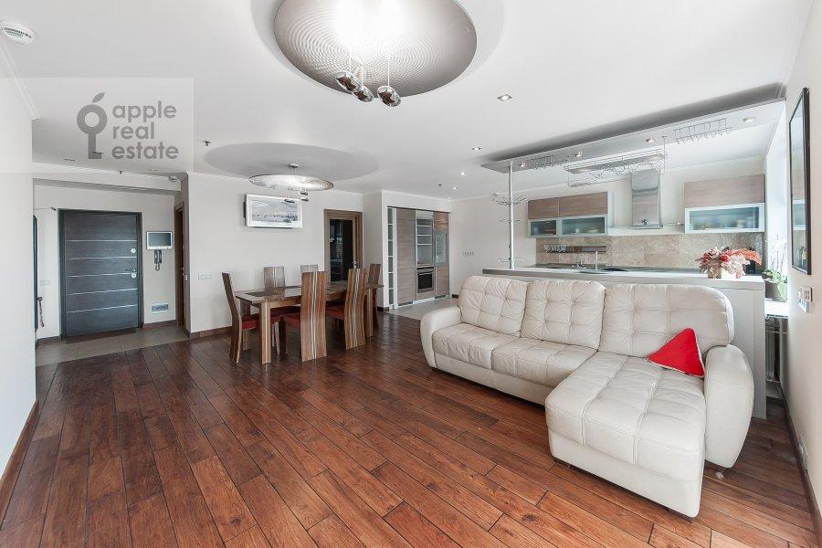 Living room of the 3-room apartment at Khoroshevskoe shosse 16k2