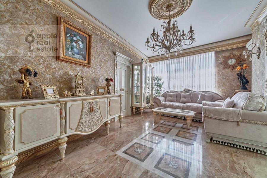 Гостиная в 3-комнатной квартире по адресу проспект Вернадского 92к1