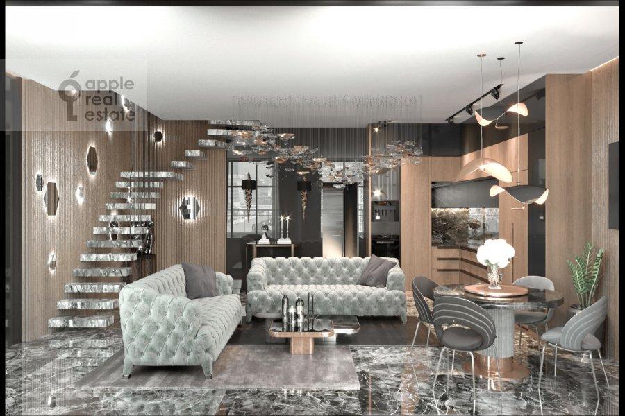 Corridor of the 4-room apartment at Novyy Arbat 32