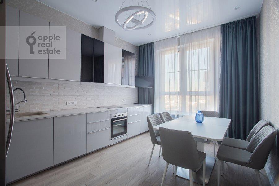 Kitchen of the 3-room apartment at Shelepikhinskaya naberezhnaya 34k2