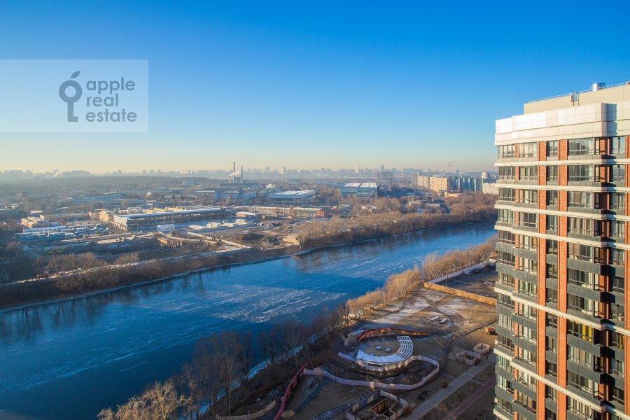 View from the window of the 3-room apartment at Shelepikhinskaya naberezhnaya 34k2