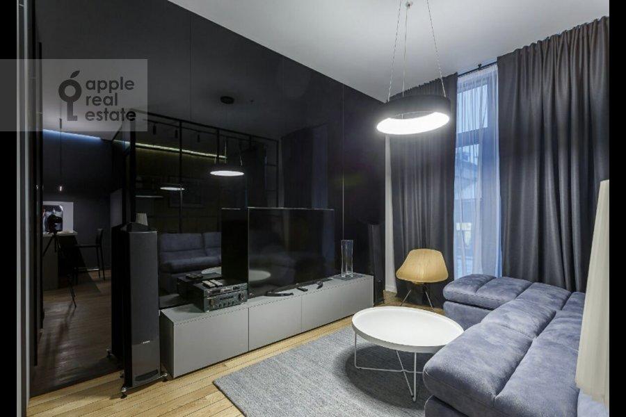 Гостиная в 1-комнатной квартире по адресу Воробьевское шоссе 4А