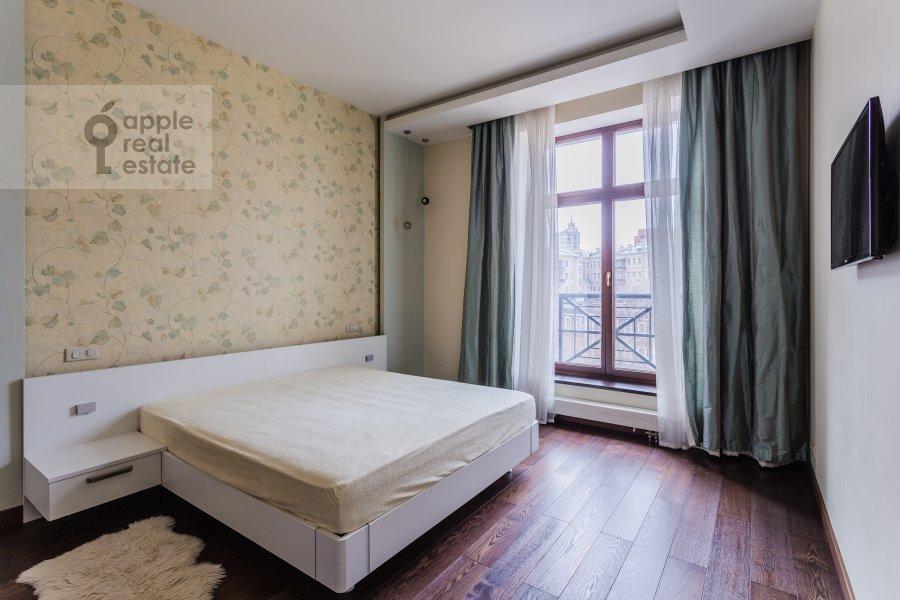 Bedroom of the 4-room apartment at Malaya Polyanka 2