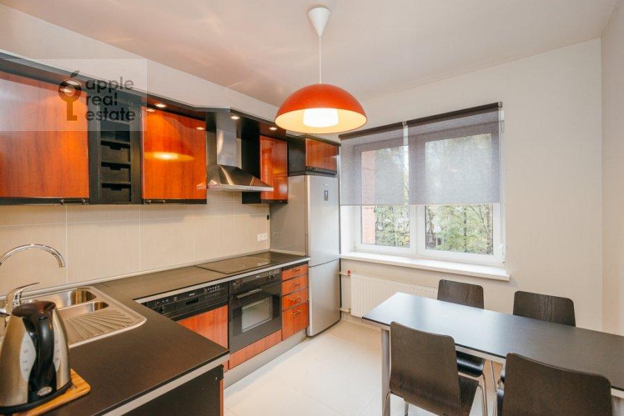 Kitchen of the 3-room apartment at Karamyshevskaya naberezhnaya 12k1
