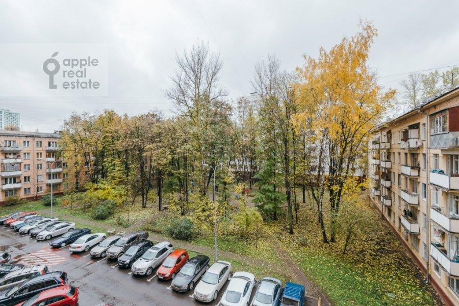 View from the window of the 3-room apartment at Karamyshevskaya naberezhnaya 12k1