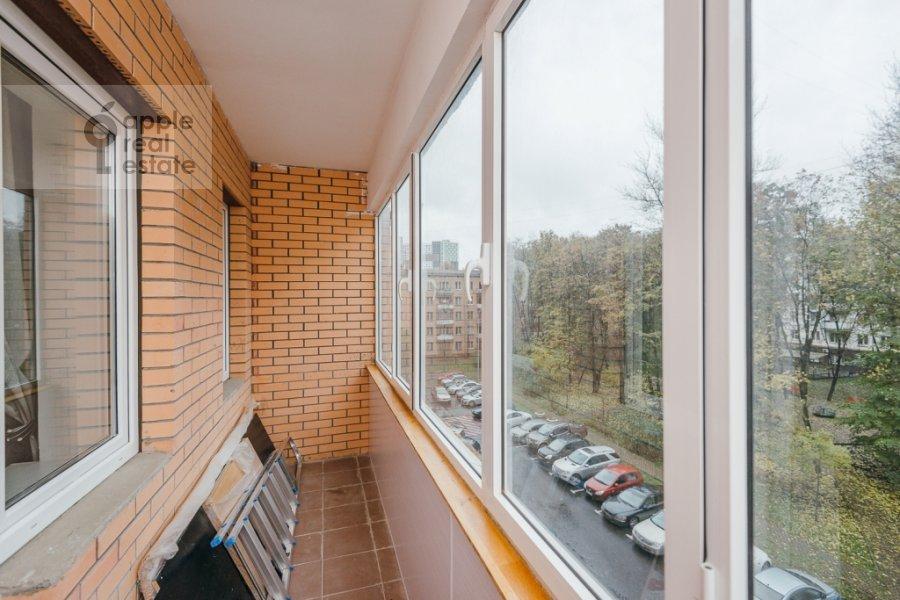 Balcony / Terrace / Loggia of the 3-room apartment at Karamyshevskaya naberezhnaya 12k1