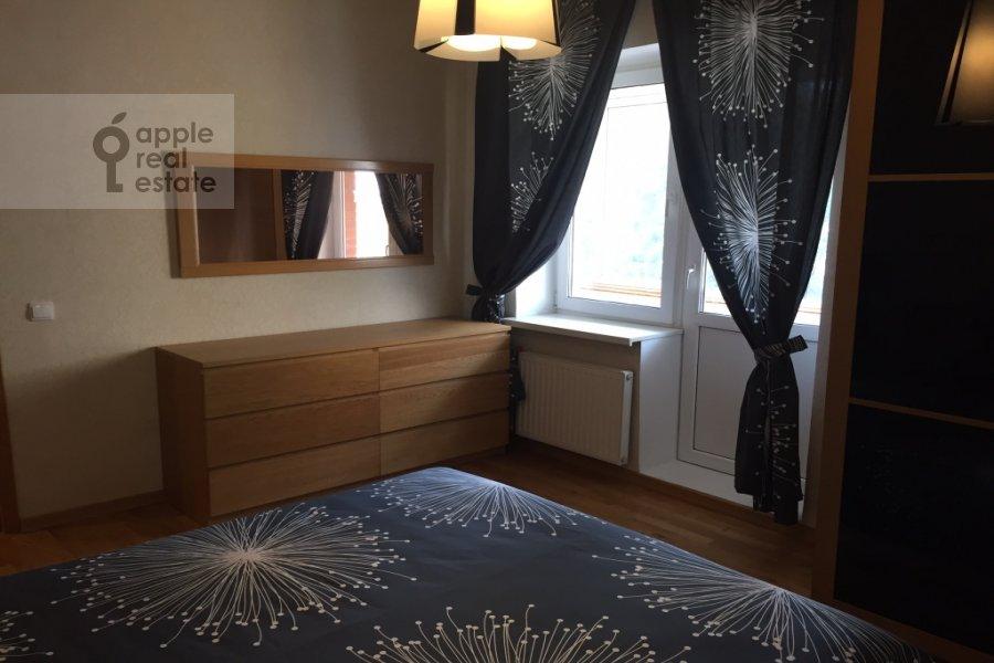 Bedroom of the 3-room apartment at Karamyshevskaya naberezhnaya 12k1