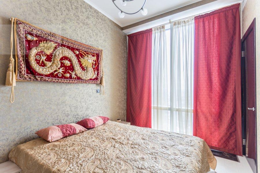 Спальня в 3-комнатной квартире по адресу Мосфильмовская улица 8