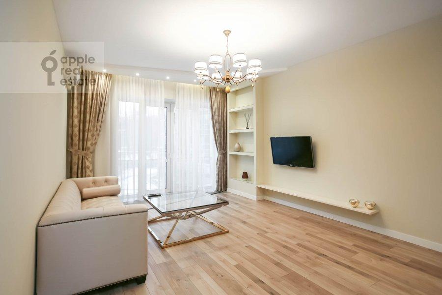 Living room of the 3-room apartment at Nezhinskaya ul. 1k2