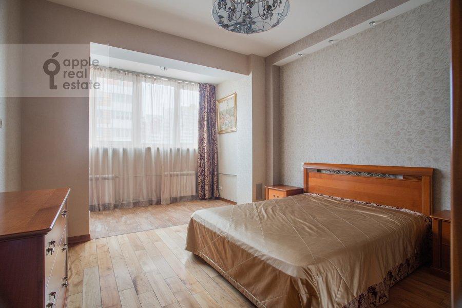 Спальня в 3-комнатной квартире по адресу Мичуринский проспект 16