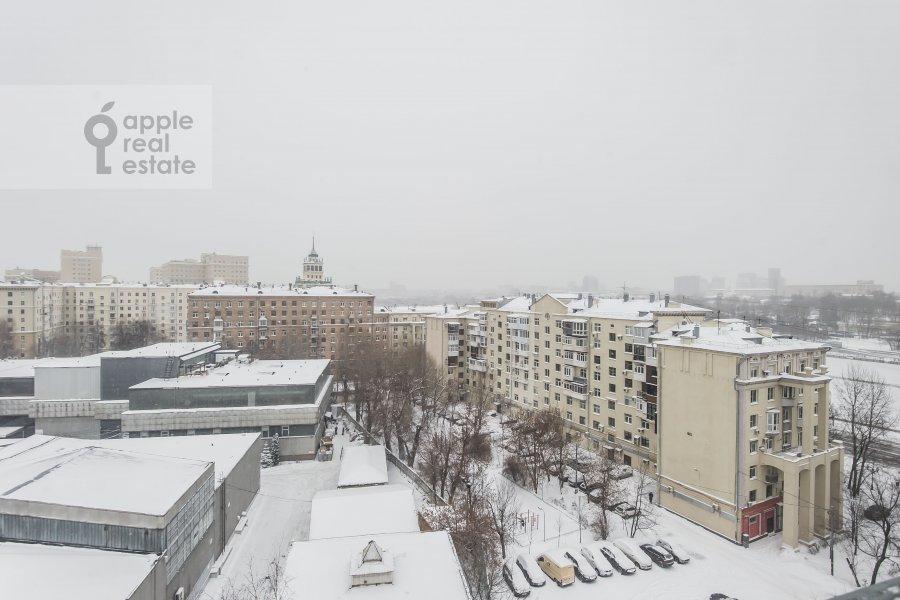 View from the window of the 4-room apartment at Frunzenskaya naberezhnaya 36/2