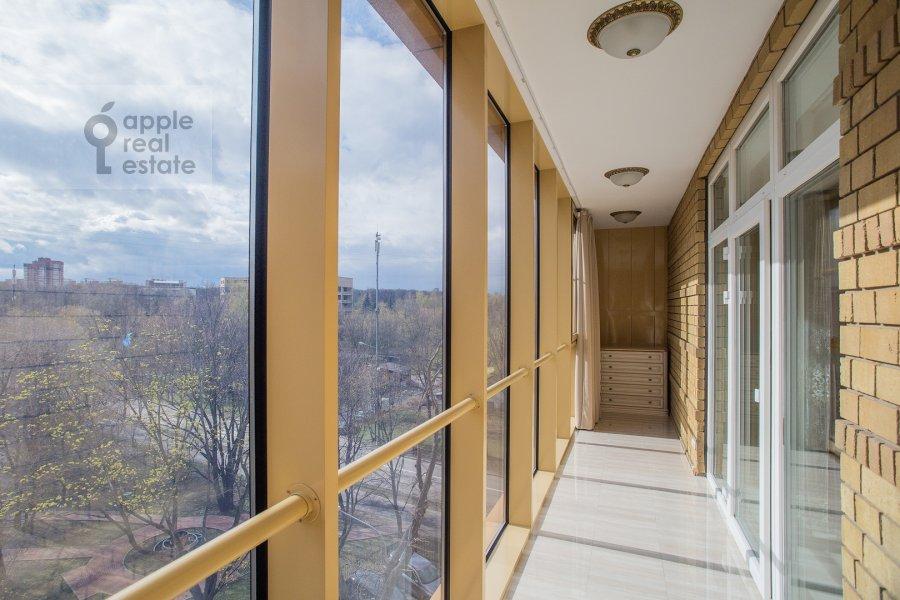 Balcony / Terrace / Loggia of the 3-room apartment at Malaya Filevskaya ulitsa 40k1