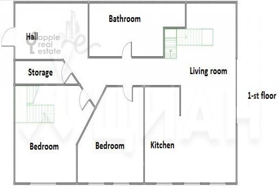 Поэтажный план 5-комнатной квартиры по адресу Брюсов переулок 2/14С3