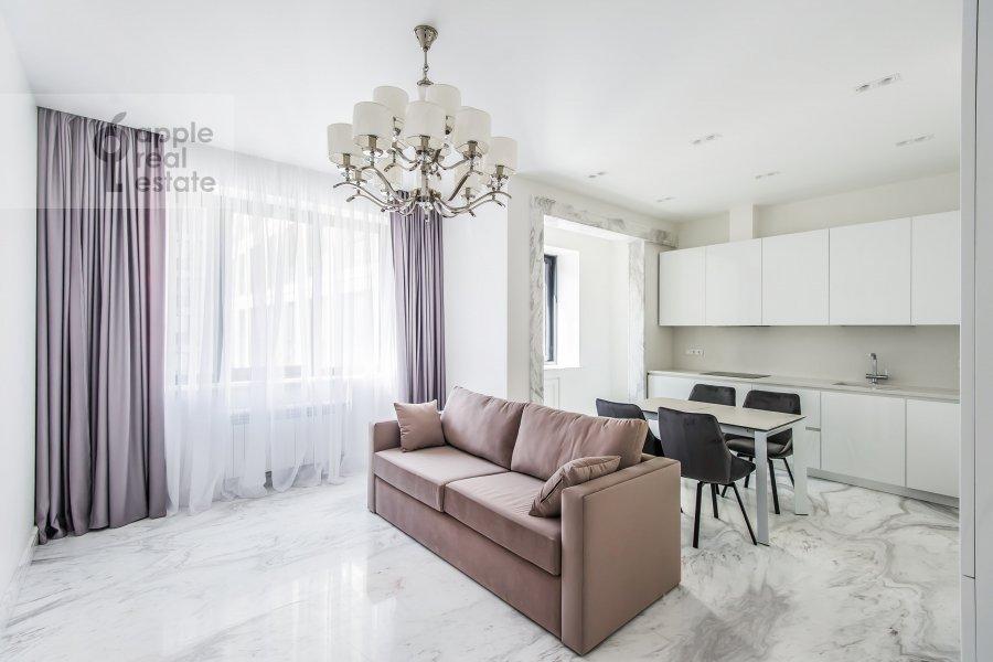 Living room of the 3-room apartment at Leningradskiy prospekt 35s2