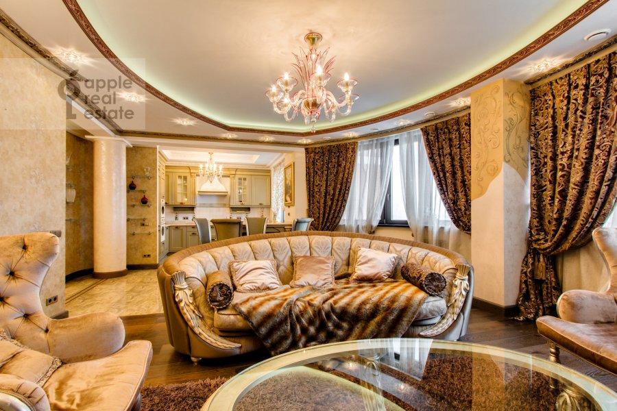 Гостиная в 4-комнатной квартире по адресу Карамышевская набережная 48к2