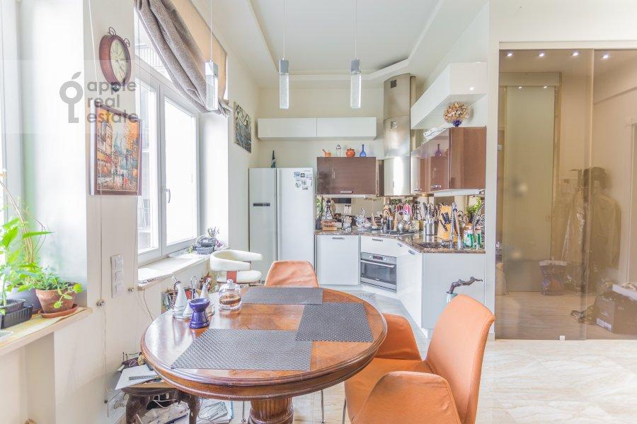 Kitchen of the studio apartment at Serafimovicha ul. 2