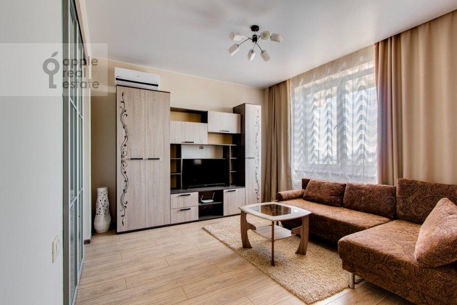 Гостиная в 2-комнатной квартире по адресу Рублевское шоссе 70к5