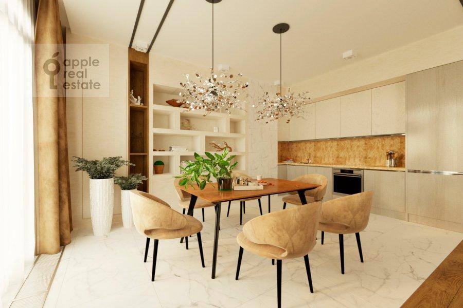 Living room of the studio apartment at Sadovnicheskaya ul. 29