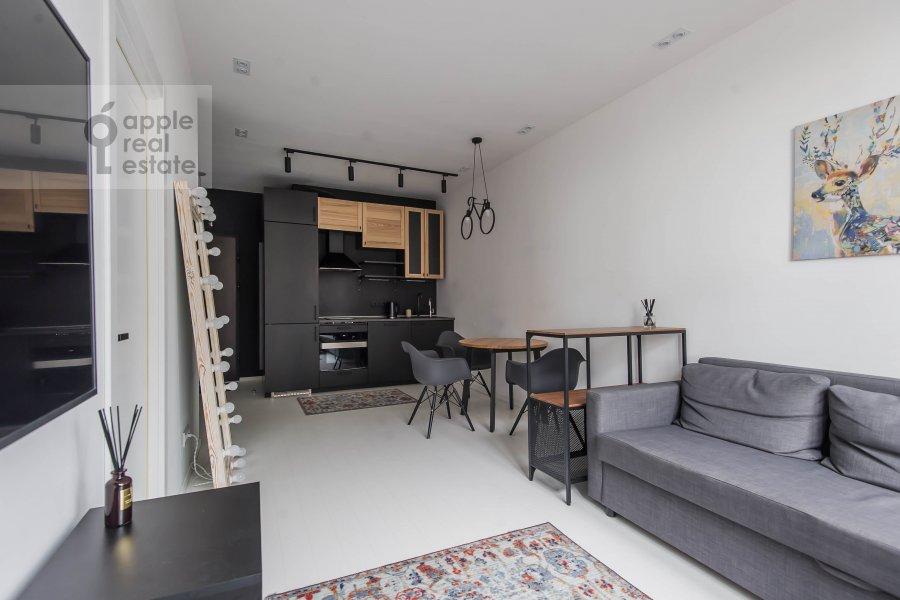Гостиная в 2-комнатной квартире по адресу Новодмитровская 2к6