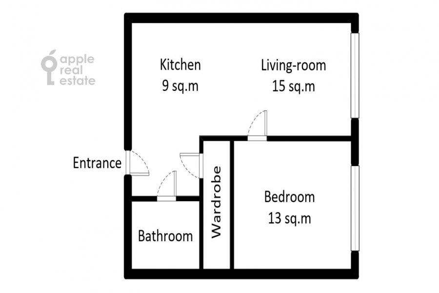 Поэтажный план 2-комнатной квартиры по адресу Новодмитровская 2к6