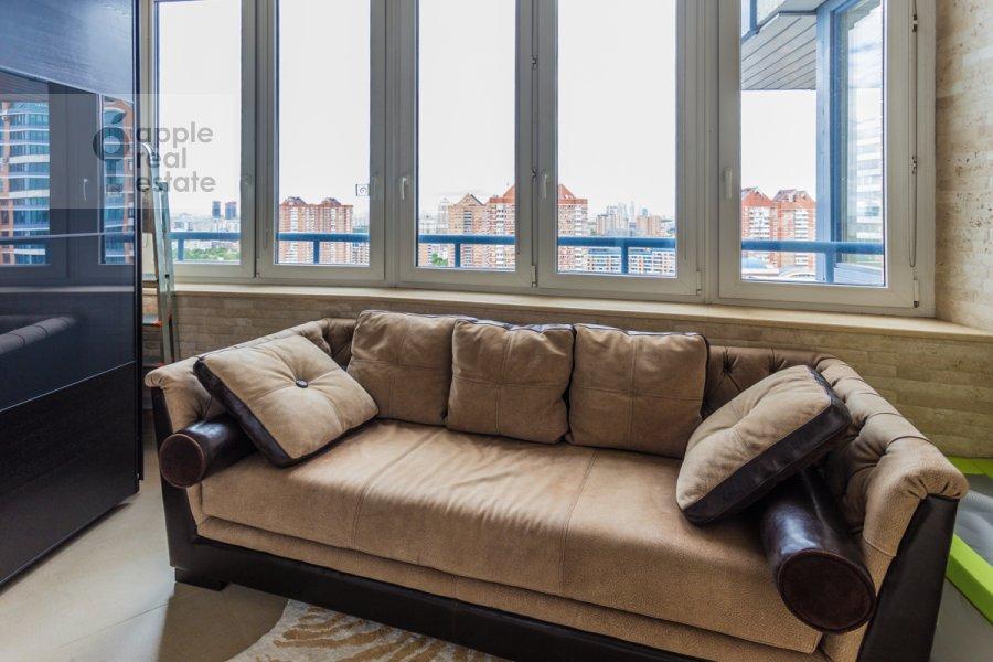 Balcony / Terrace / Loggia of the 4-room apartment at Leninskiy prospekt 106k1