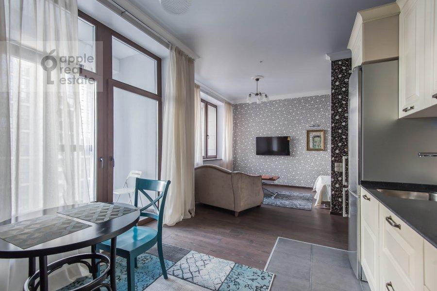 Гостиная в квартире-студии по адресу 2-я Черногрязская улица 6к3