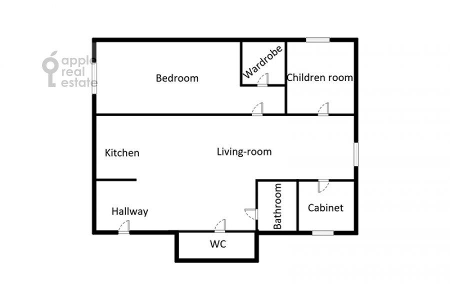 Поэтажный план 4-комнатной квартиры по адресу Филевский бульвар 24к3