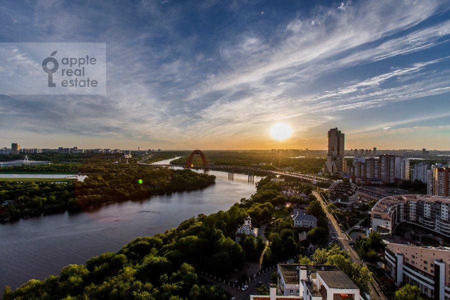 View from the window of the 6-room apartment at Karamyshevskaya nab. 62k1