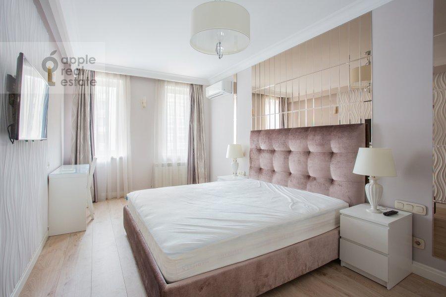Bedroom of the 2-room apartment at Presnenskiy Val 14k4