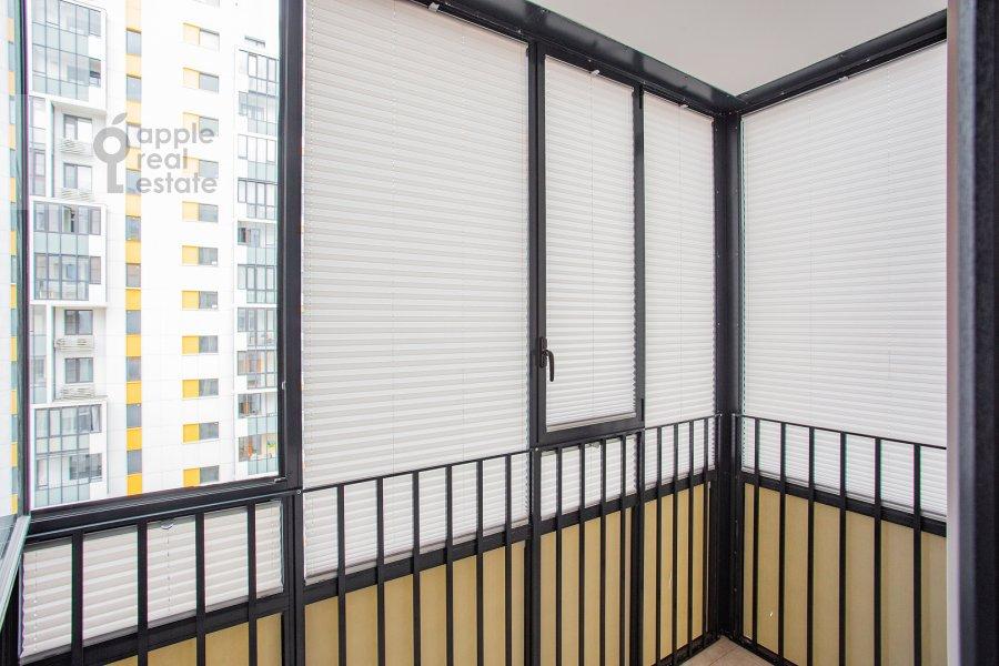 Balcony / Terrace / Loggia of the 2-room apartment at Presnenskiy Val 14k4