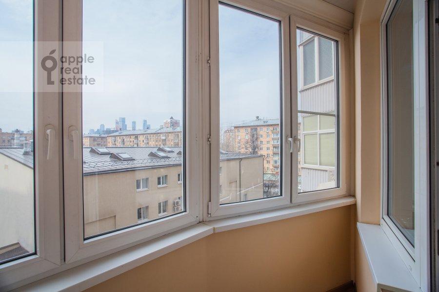 Balcony / Terrace / Loggia of the 2-room apartment at Presnenskiy Val 16S2
