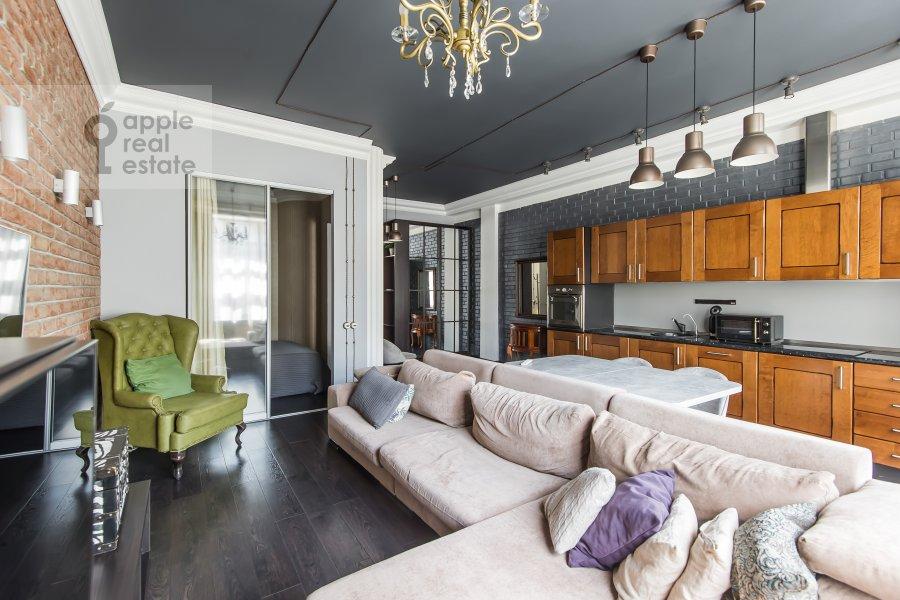 Living room of the studio apartment at Dukhovskoy per. 17s10