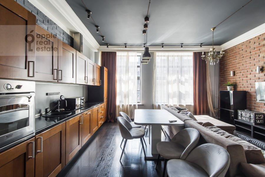 Kitchen of the studio apartment at Dukhovskoy per. 17s10