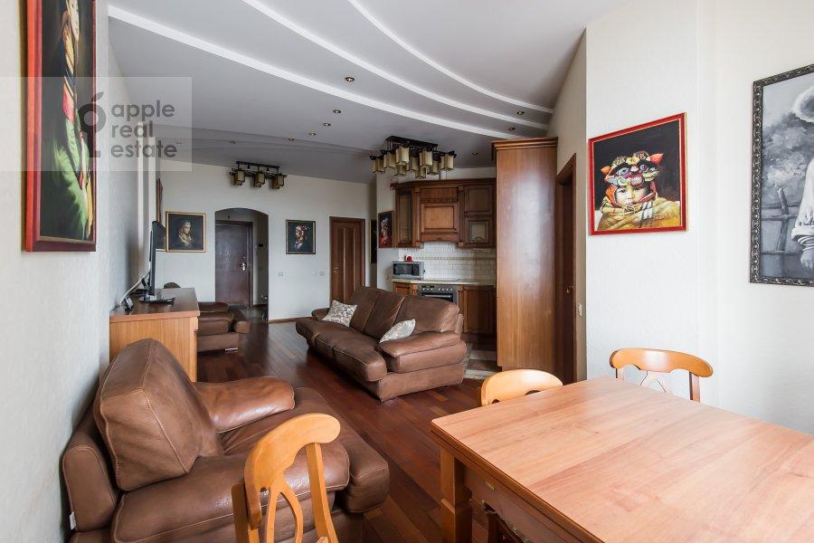 Living room of the 3-room apartment at Leningradskiy pr-t. 76k2
