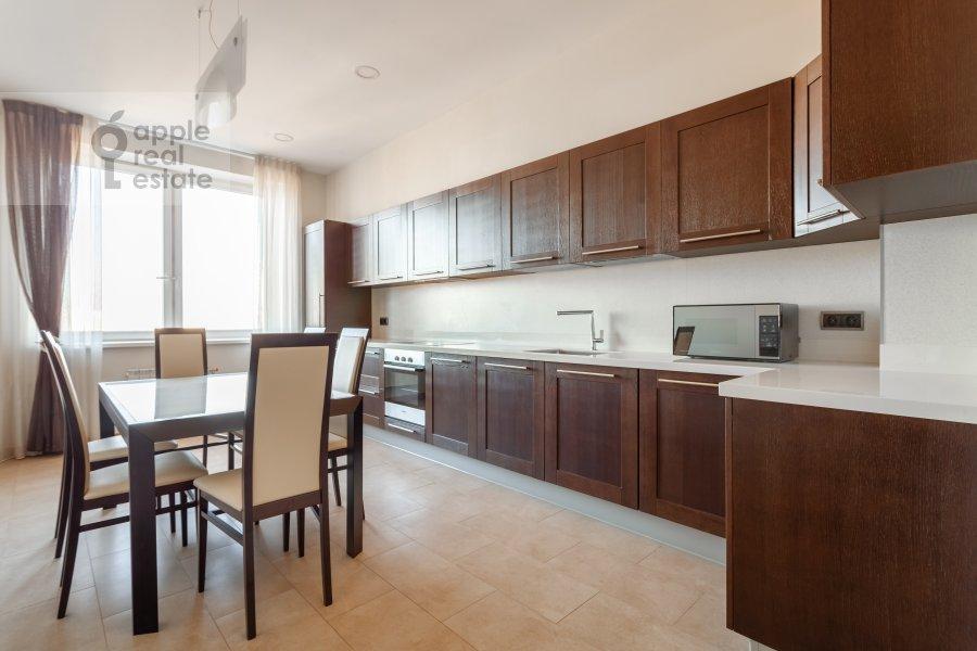 Kitchen of the 3-room apartment at Ruzheynyy pereulok 3