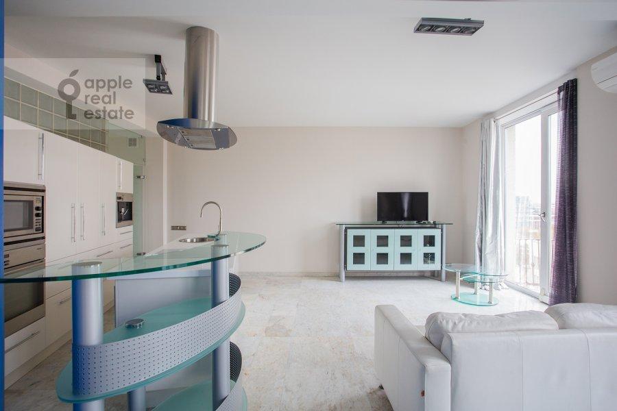 Living room of the 2-room apartment at Leninskiy pr-t. 16