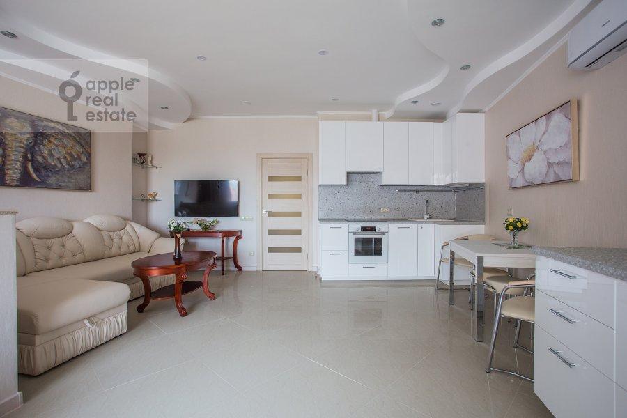 Living room of the studio apartment at Marshala Rybalko ul. 2k6
