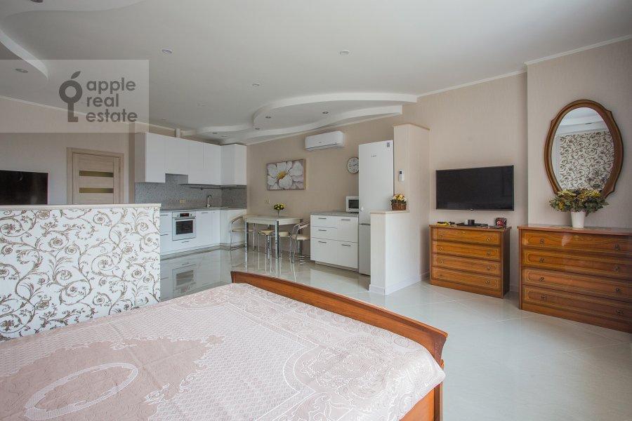 Bedroom of the studio apartment at Marshala Rybalko ul. 2k6