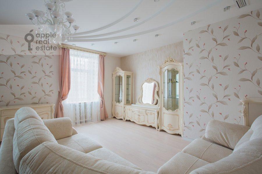 Гостиная в 3-комнатной квартире по адресу Шмитовский проезд 16стр1