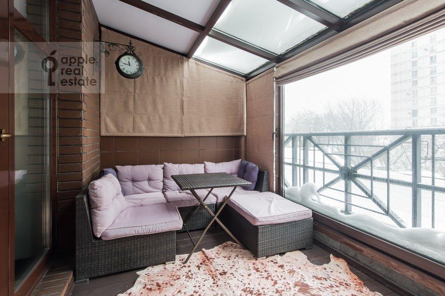 Balcony / Terrace / Loggia of the 2-room apartment at Malaya Polyanka 2