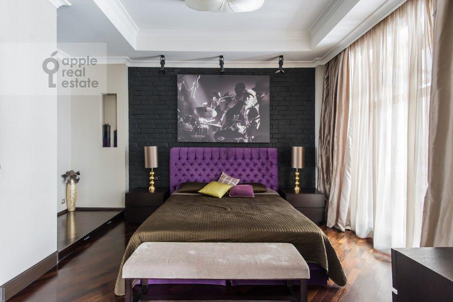 Bedroom of the 2-room apartment at Malaya Polyanka 2